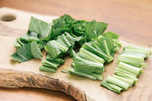 刻んだ小松菜